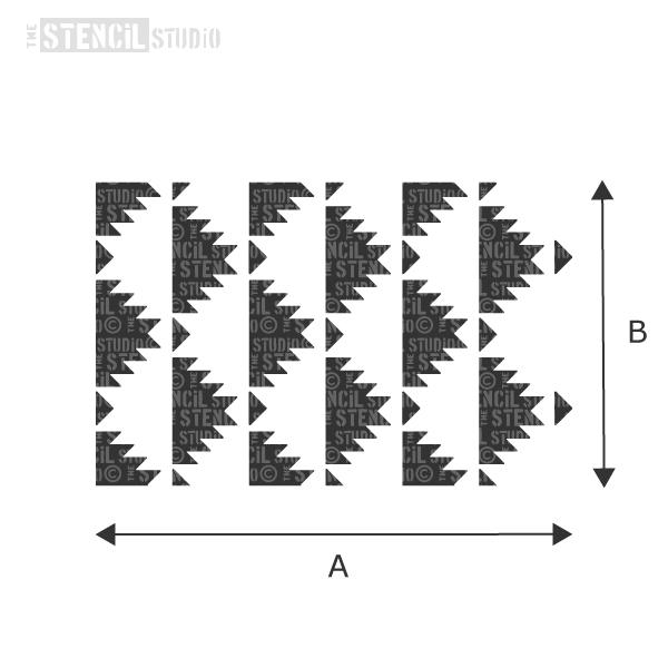 Sawtooth Repeat Pattern Stencil from The Stencil Studio - choose size from the dropdown box
