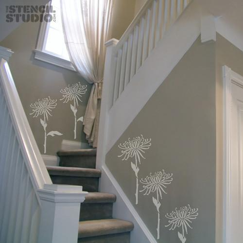 Spider Chrysanthemum Flower stencil from The Stencil Studio Ltd - Size L