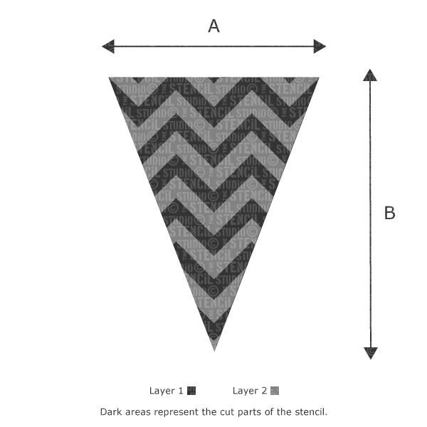 Chevron Bunting stencil from The Stencil Studio Ltd