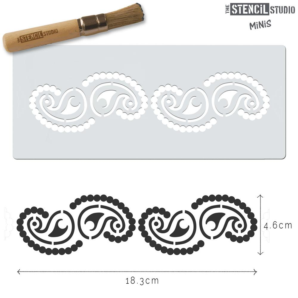 Paisley pattern stencil MiNi from The Stencil Studio