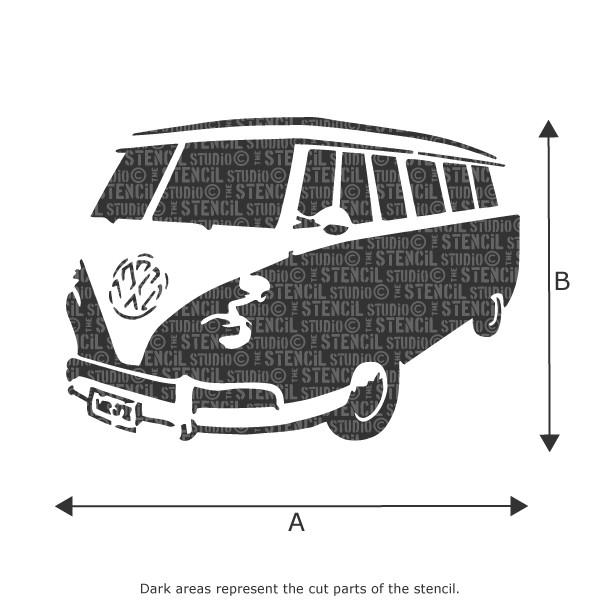 Sennen Camper Van stencil from The Stencil Studio Ltd