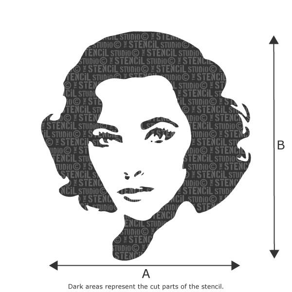 Elizabeth Taylor stencil from The Stencil Studio Ltd