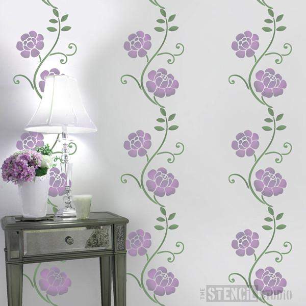 Wallflower stencil from The Stencil Studio Ltd - Size S
