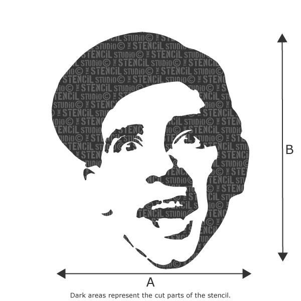 Norman Wisdom stencil from The Stencil Studio Ltd