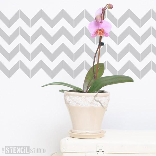 Chevron stencil from The Stencil Studio Ltd - Size S