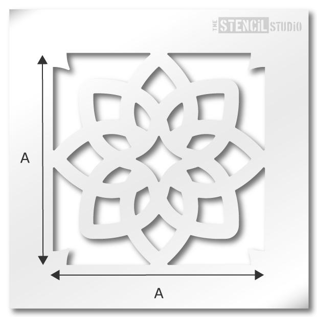 Selsley Tile Stencil from The Stencil Studio Ltd