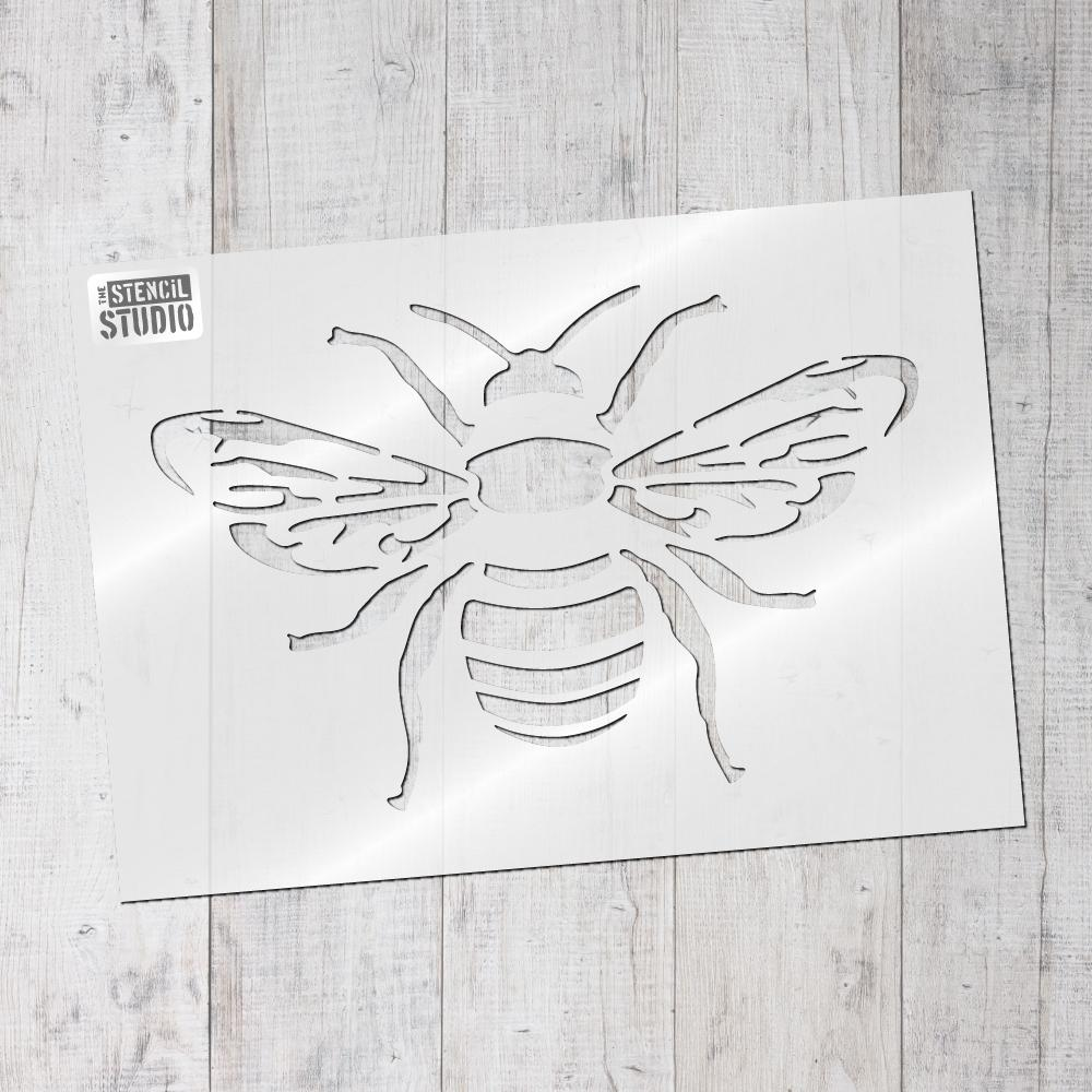 Bee Stencil, insect and butterfly stencils to buy online at The Stencil Studio