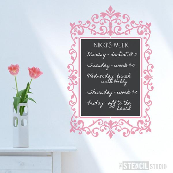 Ornate Oblong frame stencil from The Stencil Studio Ltd - Size XL