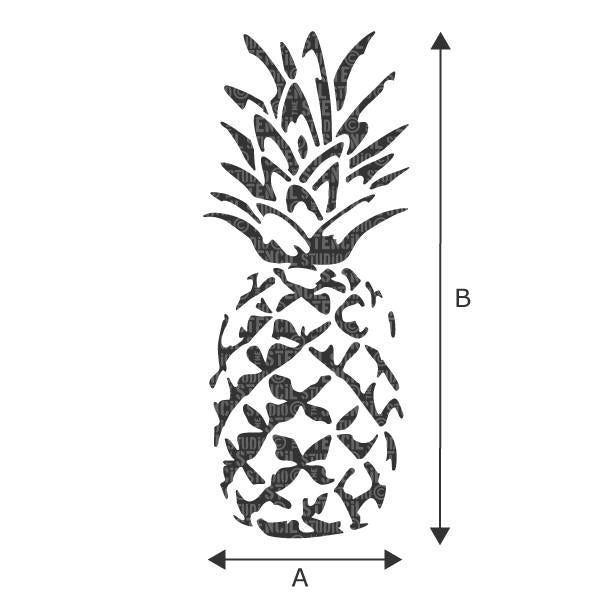 Pineapple stencil from The Stencil Studio Ltd