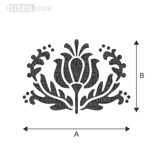 Tulip Motif Stencil from The Stencil Studio - choose size from the dropdown box