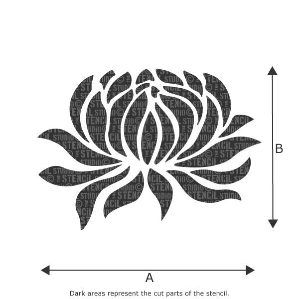 Water Lily stencil from The Stencil Studio Ltd