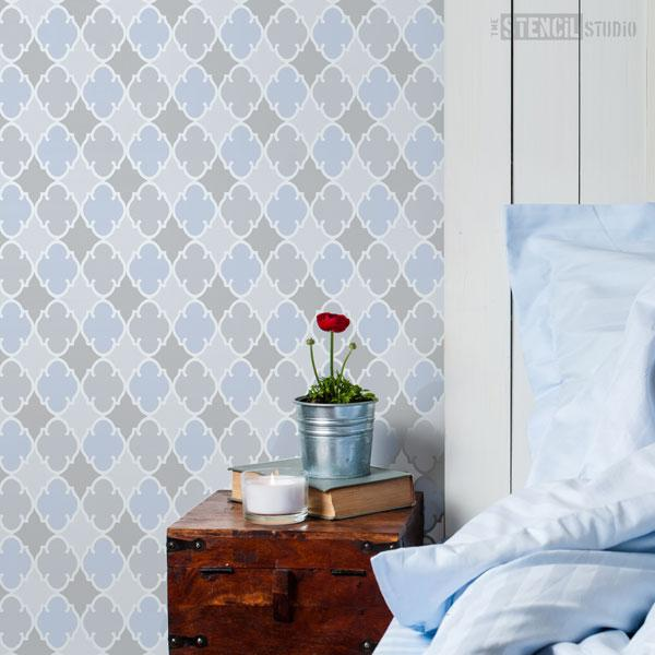 Tangier moroccan pattern stencil from The Stencil Studio Ltd - Size XS