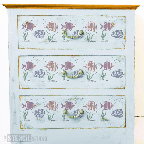 Tropical Fish Border from The Stencil Studio Ltd - Size XS