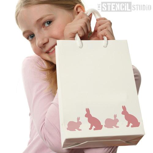 Rabbits stencil from The Stencil Studio Ltd - Size XS