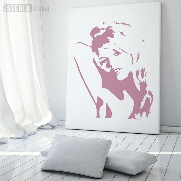 bridgette bardot stencil from the stencil studio ltd size xl