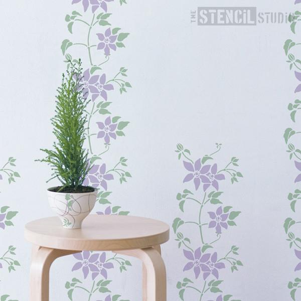 Clematis stencil from The Stencil Studio Ltd - Size S