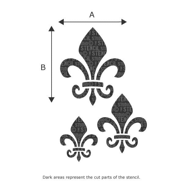 Fleur de Lys stencil from The Stencil Studio Ltd