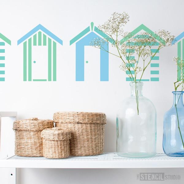 Southwold Beach Huts stencil from The Stencil Studio Ltd - Size S