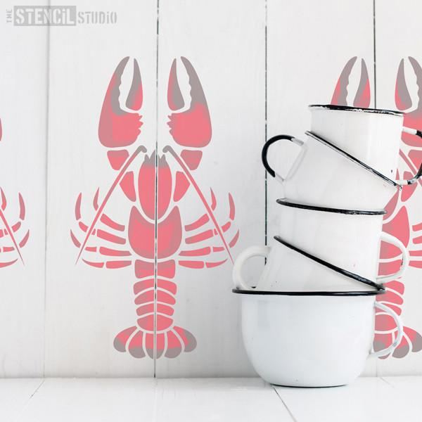 Len the Lobster stencil from The Stencil Studio Ltd - Size M