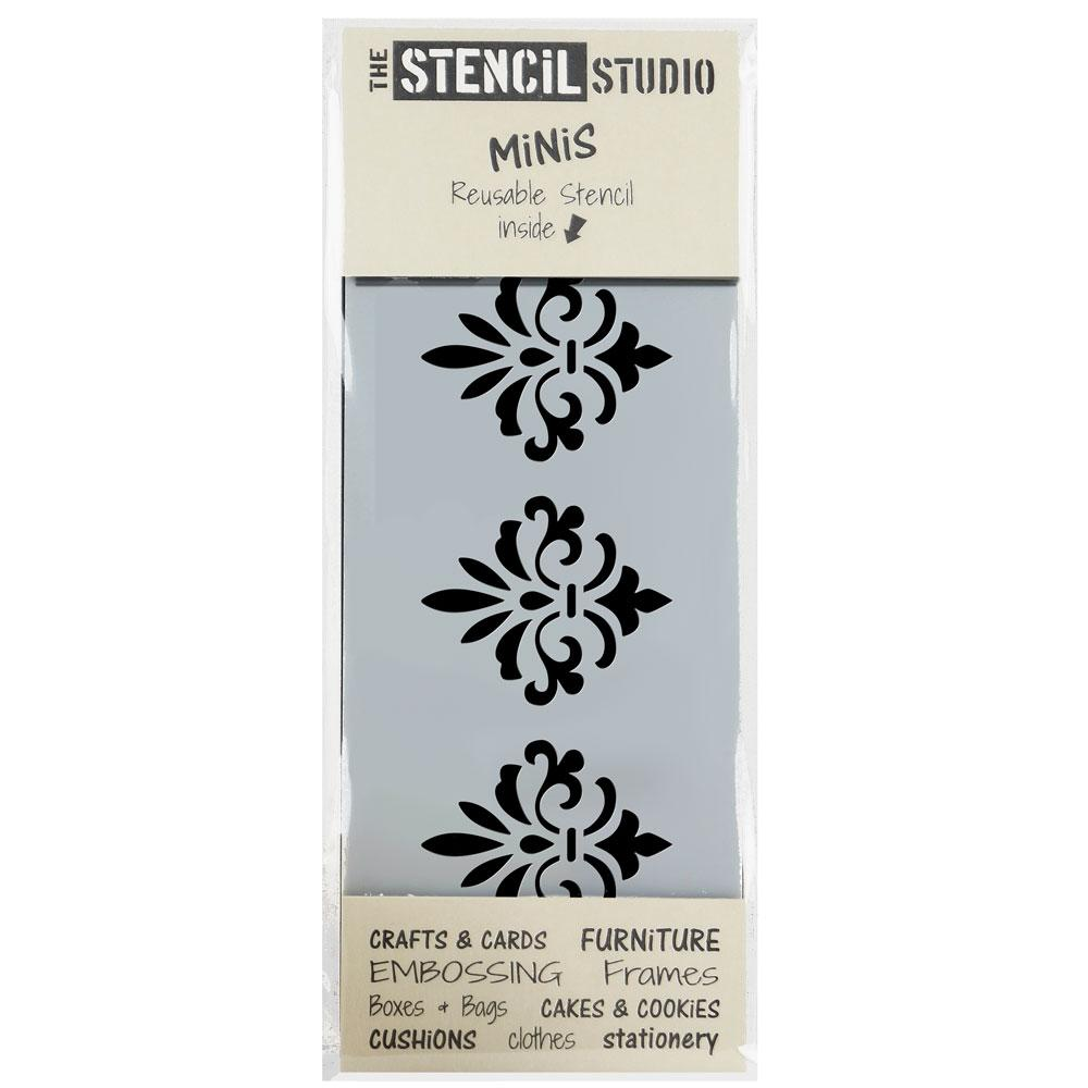 Damask Border stencil MiNi from The Stencil Studio