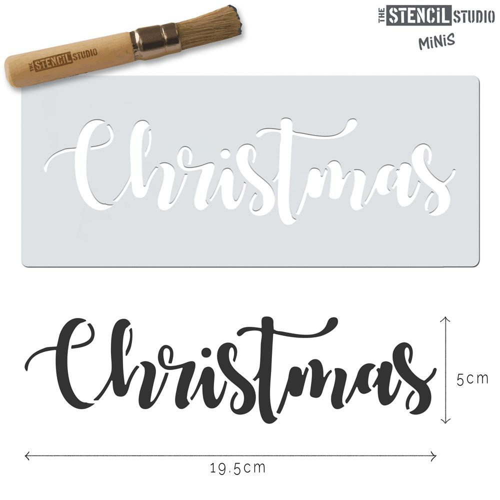 Christmas Text Stencil MiNi from The Stencil Studio