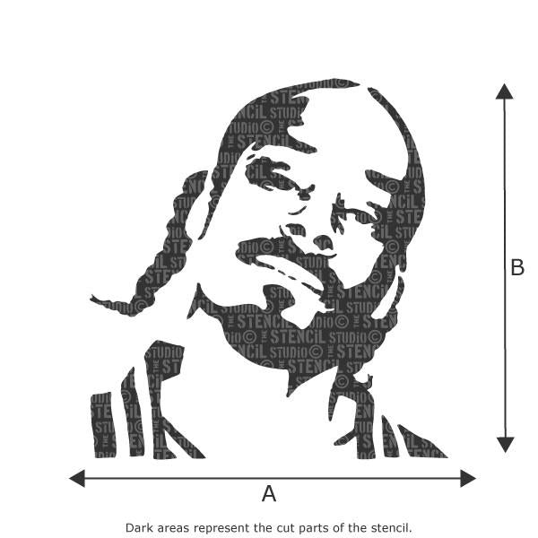Snoop Dog stencil from The Stencil Studio Ltd