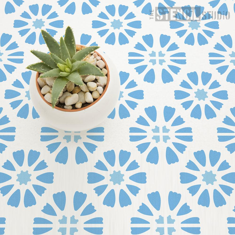 Amberley Tile Repeat stencil - Size L