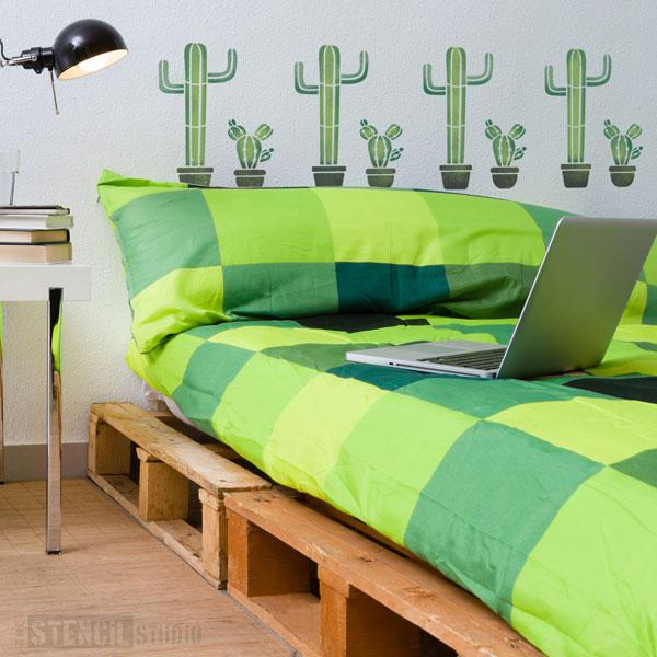 Cactus plants in pots from The Stencil Studio - Size S