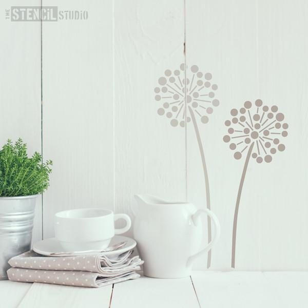 Allium flower head stencil from The Stencil Studio ltd size S
