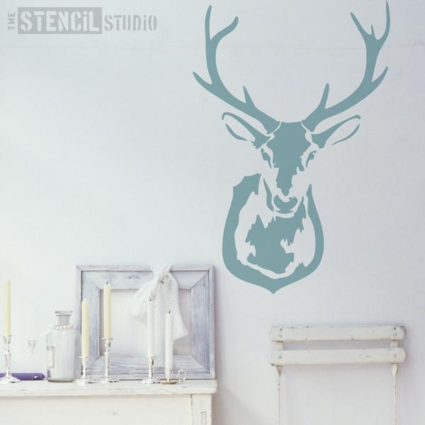 Stag's Head Stencil from The Stencil Studio Ltd - Size XL