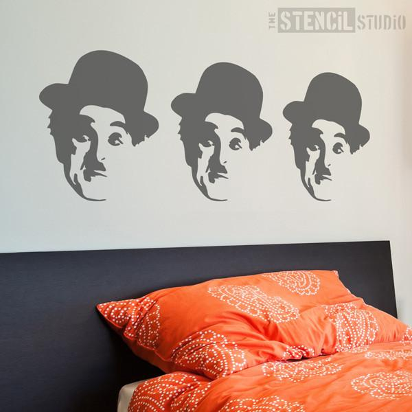 charlie chaplin face stencil from the stencil studio ltd size M