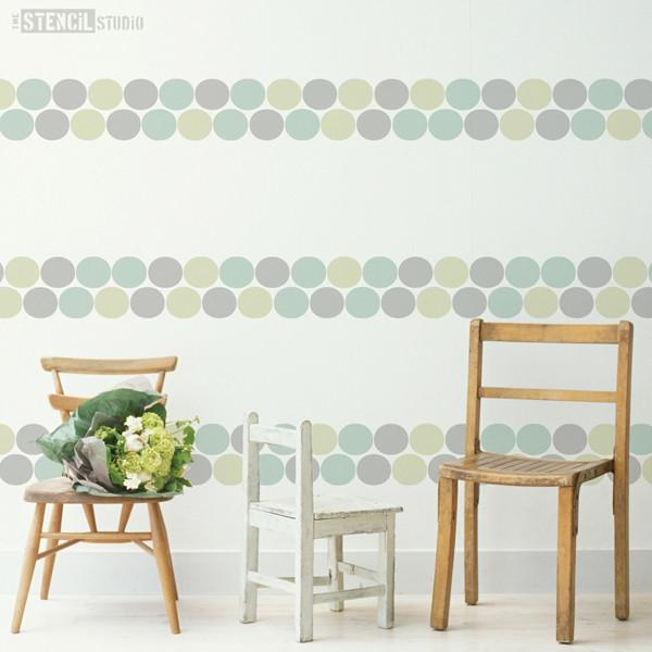 Cora Circles Border stencil from The Stencil Studio Ltd - Size L