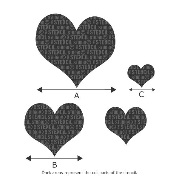 The Stencil Studio - Simple Hearts Stencil