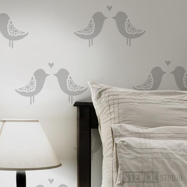 Love Birds stencil from The Stencil Studio Ltd - Size S