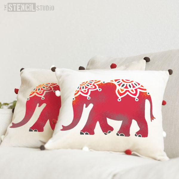 Indian Elephant stencil from The Stencil Studio - Size S