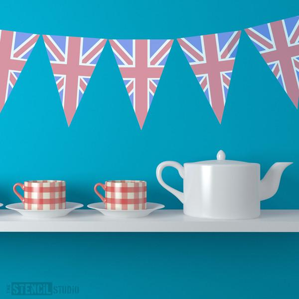 Union Jack Bunting stencil from The Stencil Studio Ltd - Size S