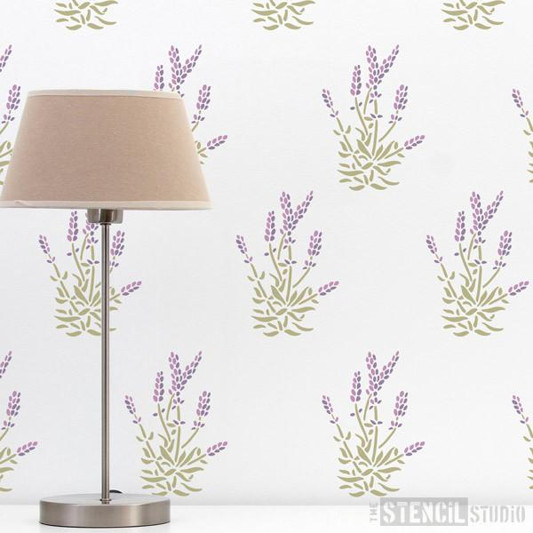 Lavender stencil from The Stencil Studio Ltd - Size XS