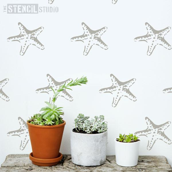 Stella Starfish Stencil from The Stencil Studio bathroom stencils range - Size XS