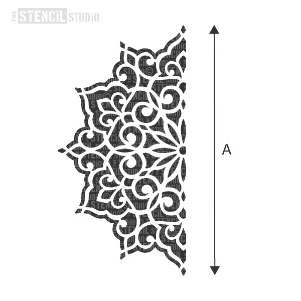 Ottoman Motif stencil from The Stencil Studio - Choose size from the dropdown box