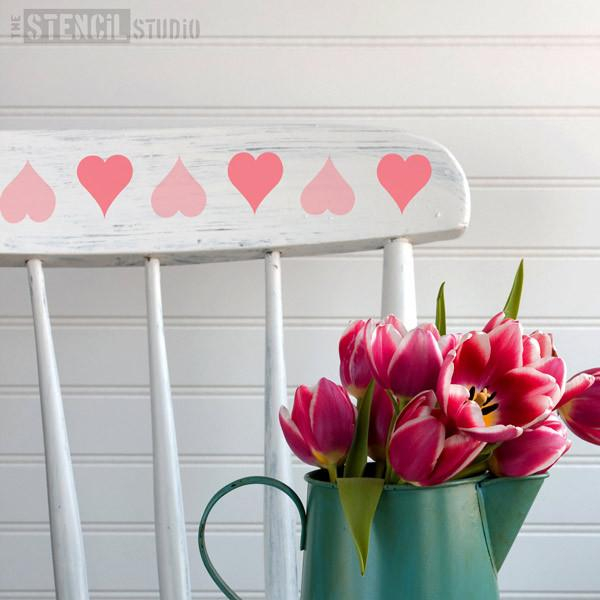 Hearts Border stencil from The Stencil Studio Ltd - Size XS
