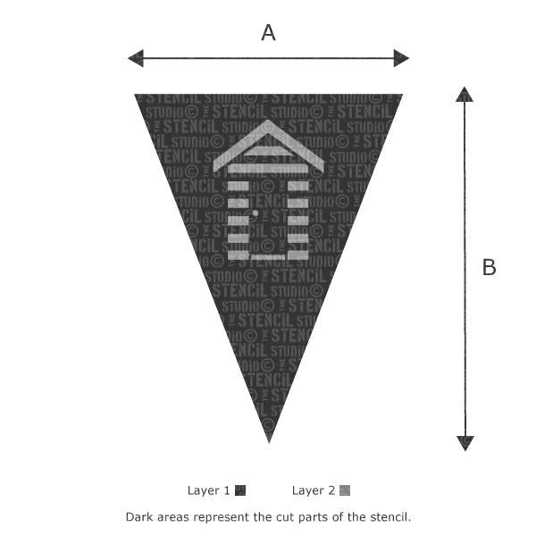 Beach Hut Bunting stencil from The Stencil Studio Ltd