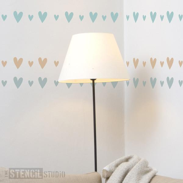 Vintage Heart Border stencil from The Stencil Studio Ltd - Size S