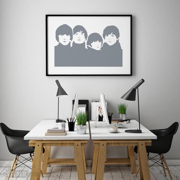 beatles stencil from the stencil studio ltd size xl