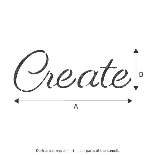 Create text stencil from The Stencil Studio Ltd