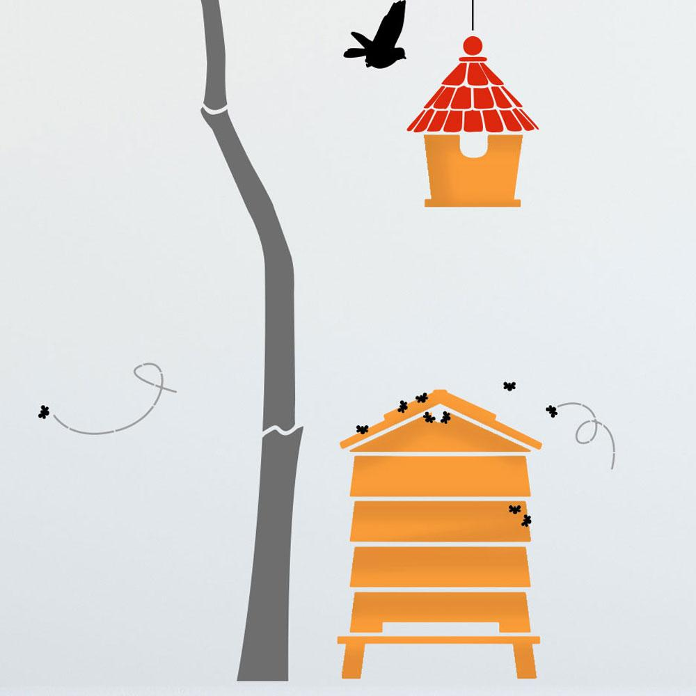 The Beehive and small birdhouse