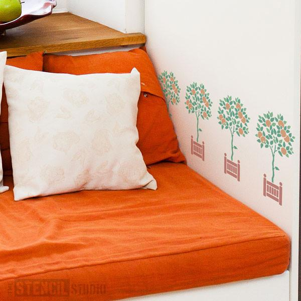 Orange Tree stencil from The Stencil Studio Ltd - Size XS