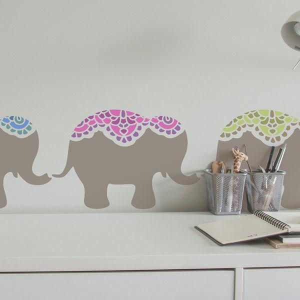 Nellie Elephant Nursery Stencil at The Stencil Studio - Stencil Size S