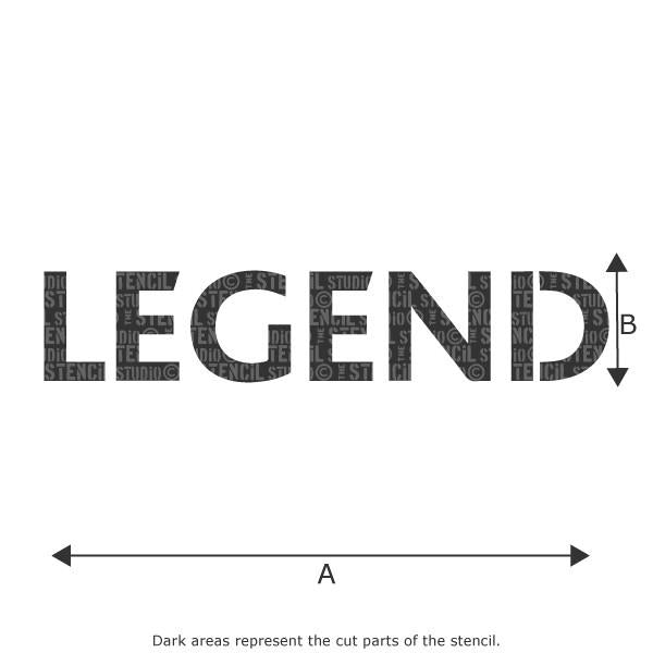 LEGEND stencil from The Stencil Studio Ltd