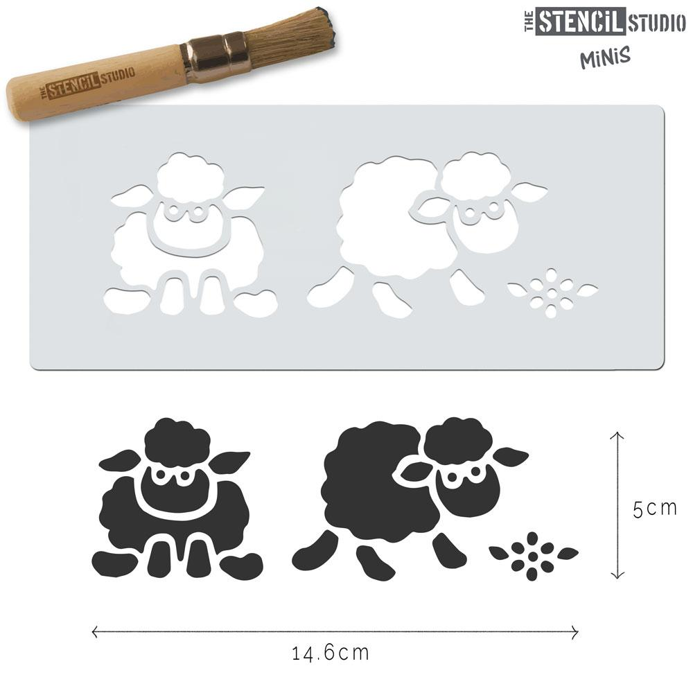 Sheep stencil MiNi from The Stencil Studio
