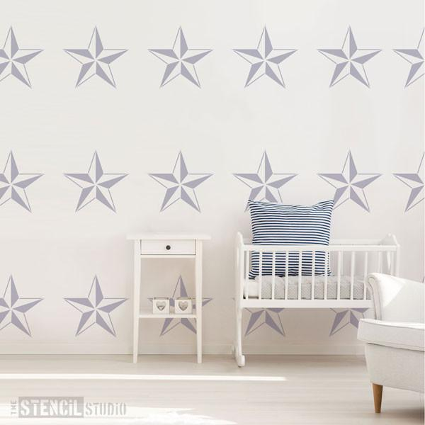 Nautical star stencil from The Stencil Studio - Size M